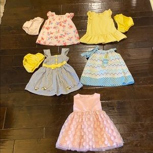Lot of 5 dresses!! Great condition! 12-18 months